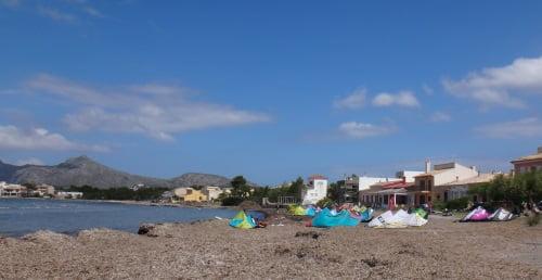 mallorca kiteschool learn kitesurfing in Pollensa bay best Mallorca kitespot