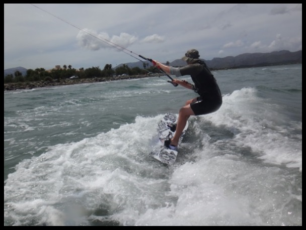 Magnus navegando mallorca kiteschool curso de kite