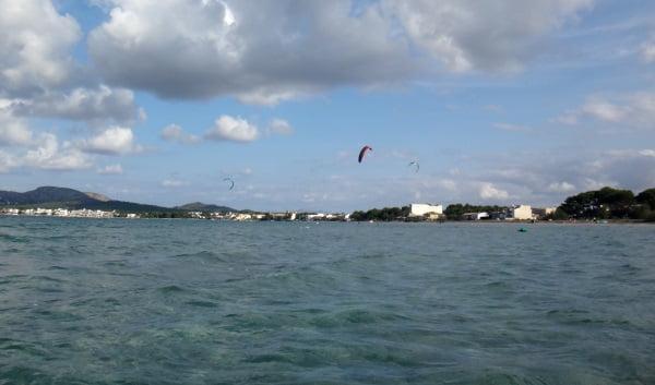 Sa Marina wind in Pollensa kite foilboarding flysurfer