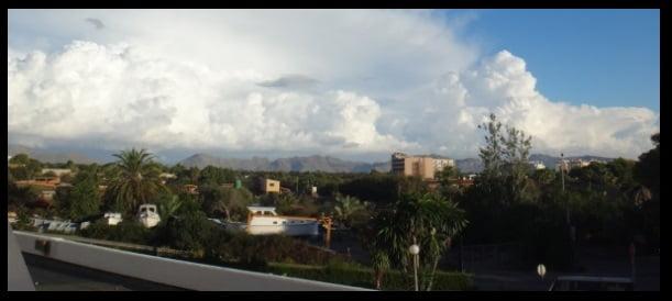 clouds forming over Serra de Tramuntana in March