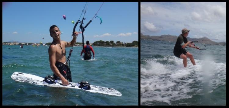 mallorca kiteschool kite lessons Pollensa in April