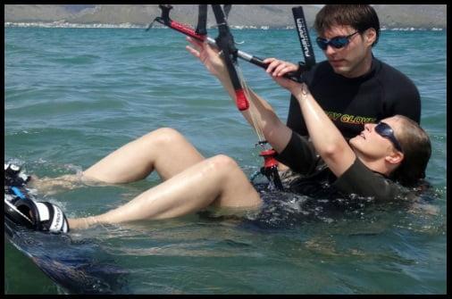 drei tage kitekurs auf mallorca in April Alena und Rogerio