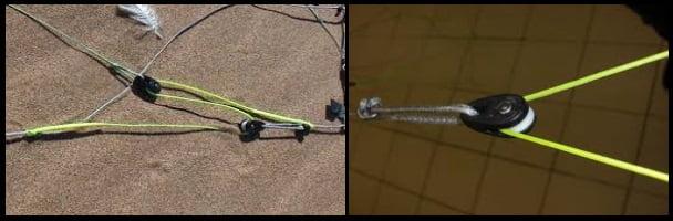 1 Zäume und Rollen Flysurfer Kite Foil trimmer System