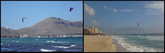 1 a clear day can turn unto a storm kitesurfing mallorca in April