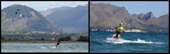1 beim leichte wind kitesurfen mallorca