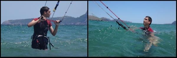 1 kitekurs mit Titu and Evan flysurfer kiteschule mallorca