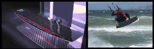 1D Konstruktion eines Kiteboards verschiedene Komponenten und Preis