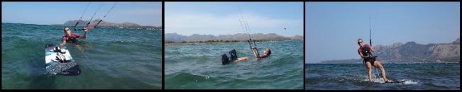 2 Kitekurs in Juni Pollensa Bucht kiteschule Svenja kite anfänger Mallorca