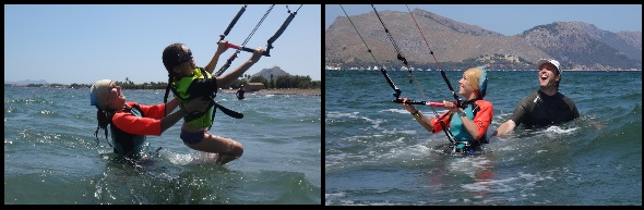2 Lilli and Herald kite lessons in Mallorca in April