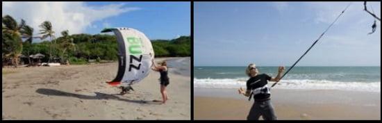 2 Verwenden Sie keinen zu großen Kite, ziehen Sie die Schnellspanner in Schwierigkeiten