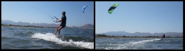 2 kitesurfen lernen anfänger deutsche kitekurs Mallorca in Juni