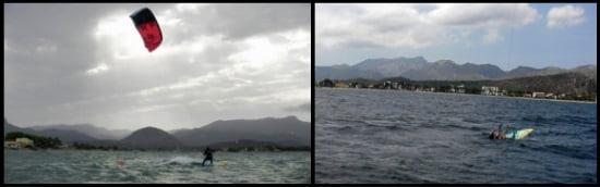 2 wind fail Sie mussen Ufer erreichen
