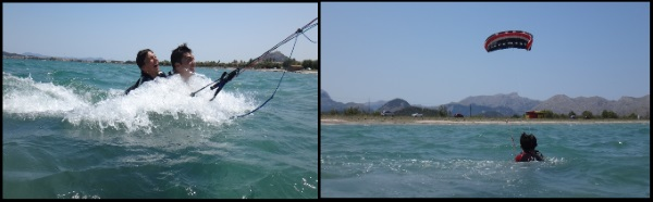 3 bodydrag at foil Flysurfer kites April beginner kitekurs