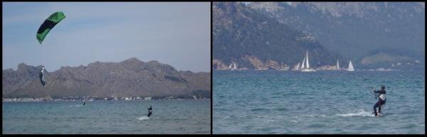 Pollensa Bay unser Sommer Kitesurfing Spot wo unsere Kiteschool und Kite Kurse mit Sofie in Mallorca stattfinden