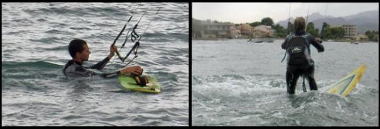 3 keine wind zurruck nach Ufer kitesurfen mallorca