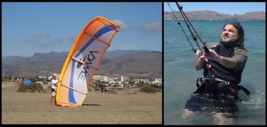 3 poco viento y kite grande mallorca kiteschool en abril