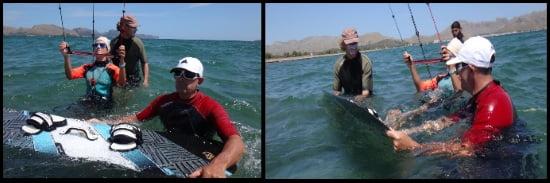 3 Wasserstart auf Mallorca Kite Kurse im April Harald Can Pastilla