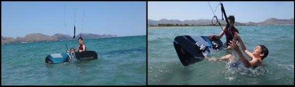 4 Evan probier waterstart mit flysurfer kite ausrustung