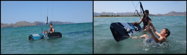4 Evan try waterstart with flysurfer kite equipment