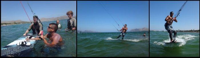4 aprender kitesurf en tres dias en Pollensa