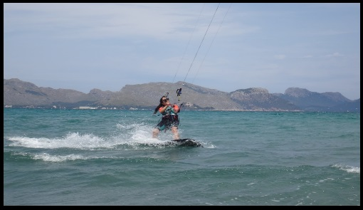 Asociacion Aprende a Navegar Google maps kitesurfing course in June our girl Marta