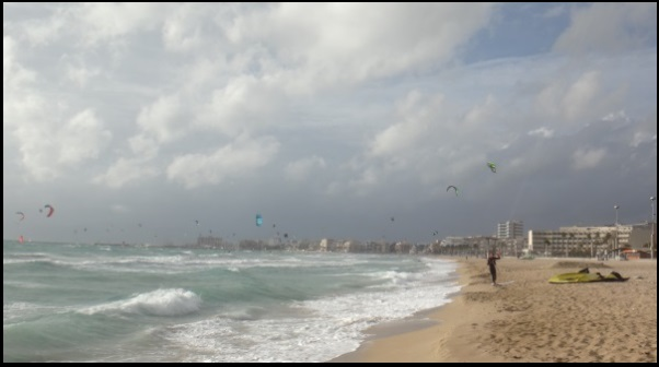 Can Pastilla Playa de palma kitesurfing in winter