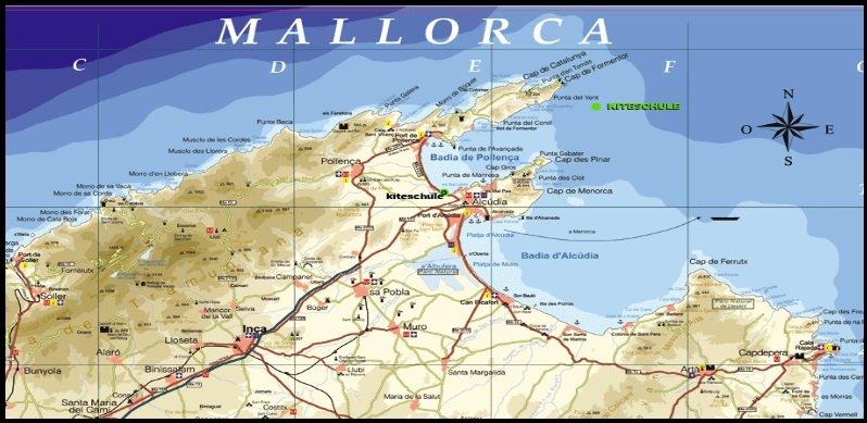 Kitesurfen auf Norden Mallorca kitekurse in April - Mai und Herbst