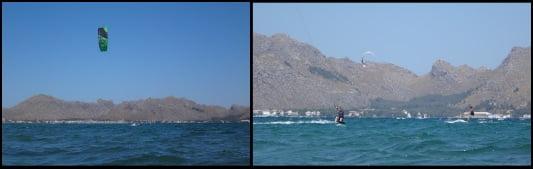Kitesurfing-Kurse in voller Geschwindigkeit auf Mallorca im Juni Julia kiten lernen