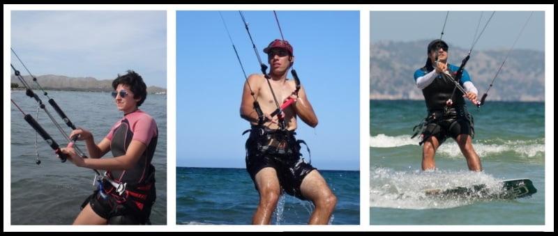 Sergio Martin und Donata kitekurs auf Mallorca in May