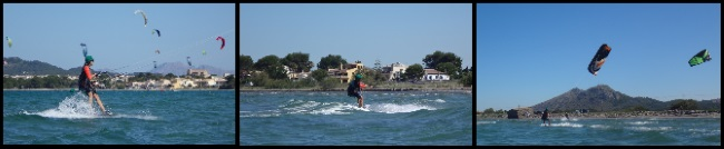 Marta learn kitesurfing in Alcudia kite course in June