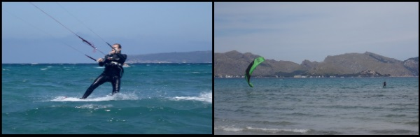 Peak 12 mts learn kitesurfing in Palma de Mallorca kitesurfing mallorca kite lessons in July with Sofie