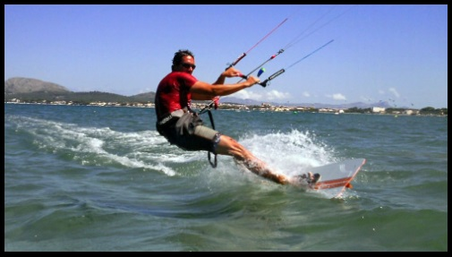 Sommer termische wind auf Mallorca in Juni-Juli und August