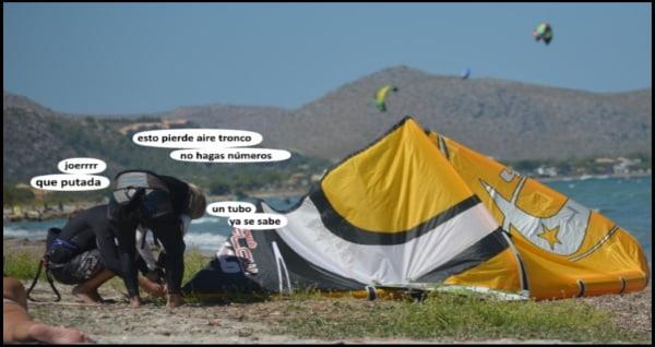 clases de kitesurf en mallorca en agosto el kite de tubo pierde