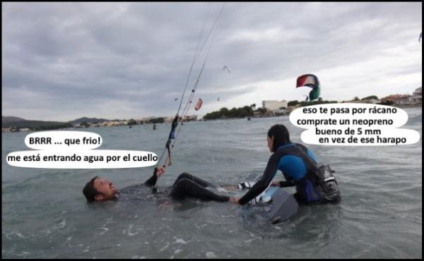 clases de kitesurf mallorca en julio kiteblog kite con neopreno