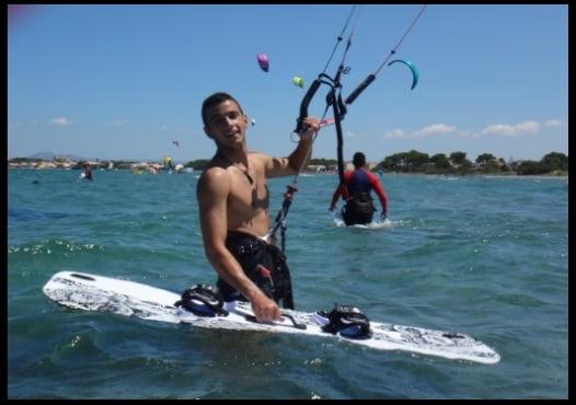 mejor tabla de kitesurf para principiante en Mallorca