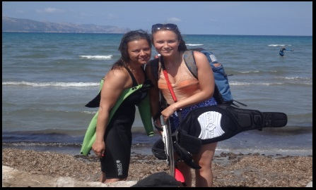 girl's kiteschool Mallorca Sofie kite lessons in July