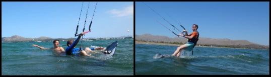 learn kitesurfing at 12 knots kitesurfing mallorca