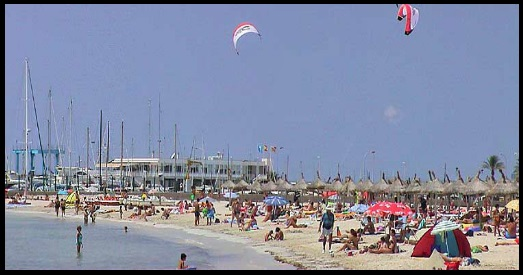 kitesurfing Can Pastilla is not a good idea