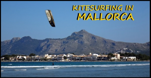 kitesurfing lessons in Mallorca S'Albufereta kite spot in June