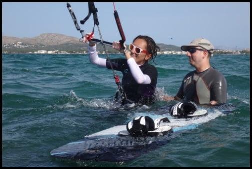 mallorca kiteschool register - our kiteschool in Mallorca kite courses in July
