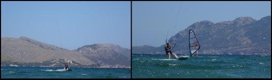 sie ist gut upwind kitesurfen mallorca nähert sich uns und ohne komplexe Julia kiten auf mallorca Pollensa Bay