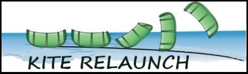 Tube-Kite-Start vom Wasser-Kite-Kurs im Juli