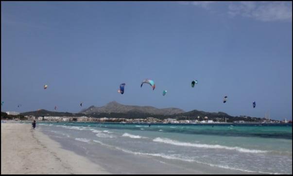 viento de sur en la playa del Puerto y Sunwing