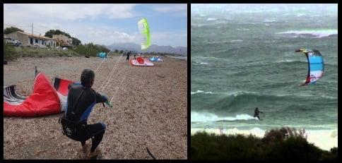 viento fuerte no sirve para aprender kitesurf