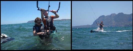 wechselnder Kiter in der Kiteschule auf Mallorca