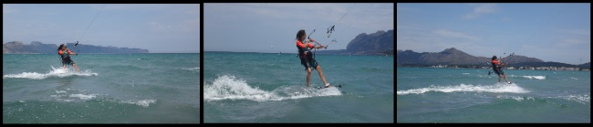 wind in Pollensa Marta kite course in June in Mallorca