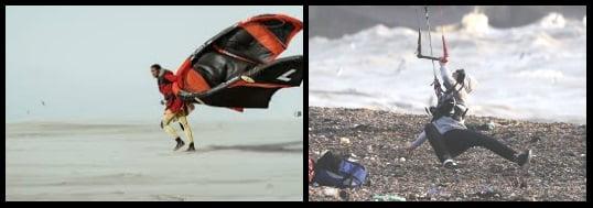 Dangerous wind do not kitesurf