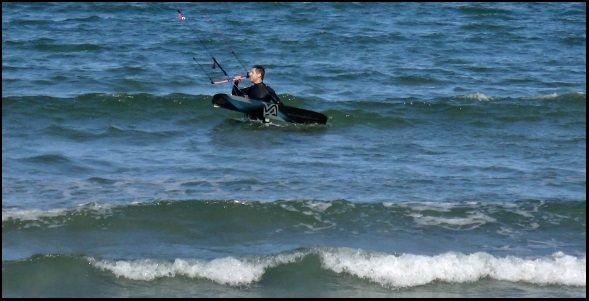 1 Borja zum Wasser Kite-Unterricht in Mallorca