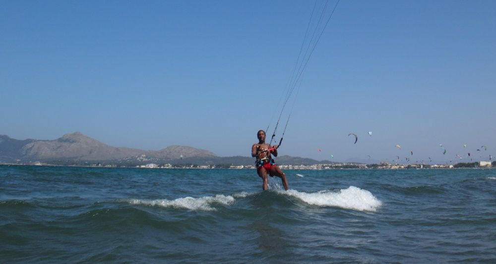 1 Christian kitesurfing lessons mallorca