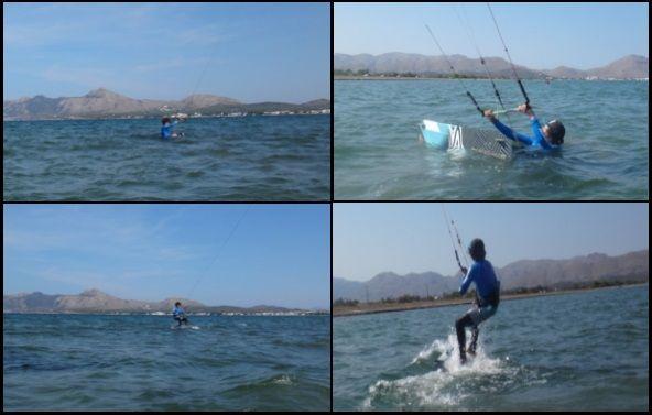 1-Junger Michi Kitekurs auf Mallorca Kiteschule Juni